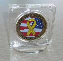 """1.75"""" Challenge Coin Display Holder Case with Stand, w/ Magn"""
