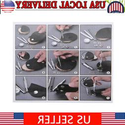 120 Sets Metal Snap Fasteners Kit Snap Buttons Press Studs w