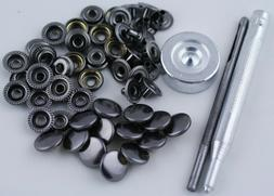 With Tool 15 Sets Heavy Duty Poppers Snap Fasteners Leather