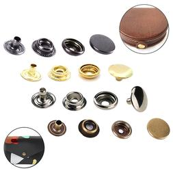 17mm Press Studs 4 Parts Snap Fasteners Brass Buttons for Cl