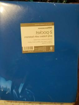 2-Pocket Folders with Fasteners, Office Depot Assorted Color