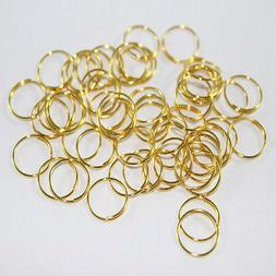 30 Pz of Rings Colour Gold For Fastening Crystals Chandelier