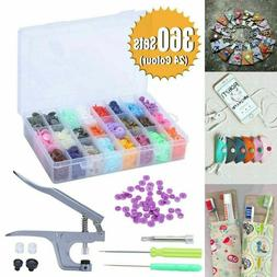 360 Sets KAM Snaps Snap Starter Plastic Poppers Fasteners 1