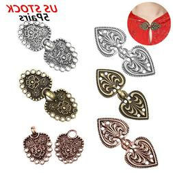 5 Pairs Vintage Cardigan Clips Cloak Clasp Fasteners for Cap