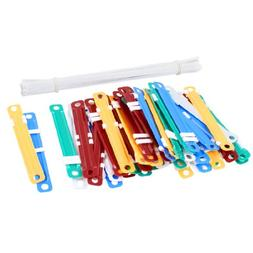 uxcell 50 Sets Assorted Color Documents Files Metal Clamps C