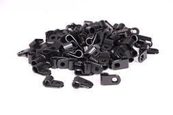 Shapenty Black Nylon Screw Mounting R Type Cable Clamp Faste