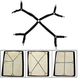 Crisscross Adjustable Bed Fitted Sheet Straps Suspenders Gri