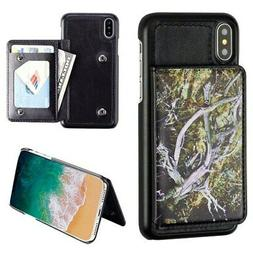 For iPhone XS/X Flip Wallet Executive Protector PC Case with