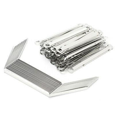 50x file fasteners binder clip paper prong