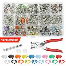 Metal Sewing Button Hollow Prong Ring Press Studs Snap Faste