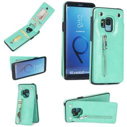For Samsung Galaxy S8 S9 plus cases Fastener Wallet Multi Ca