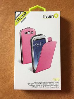 Muvit Slim Case with Magnetic Fastening Clip for Samsung Gal