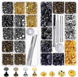 Snap Buttons and Leather Rivets 120 Set Leather Snap Fastene
