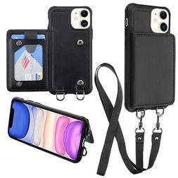 MyBat Suspend Wallet Cover Snap Fasteners Lanyard Apple iPho